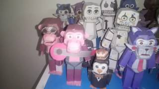 All my fnaf papercraft part2