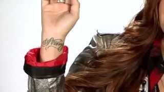 Demi Lovato talking about tatoos and LOVATICS