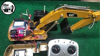 DISASSEMBLED RC EXCAVATOR HYDRAULIC HUINA 580 || KID TOY TV || INSIDE DETAIL AND MORE