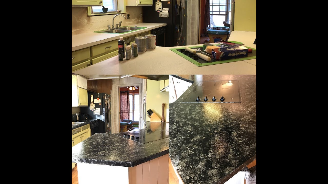 Make Formica Look Like Granite Diy Hack Youtube