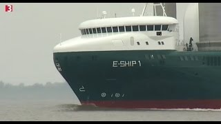 E-Ship 1 auf 3Sat - Säulen als Segel