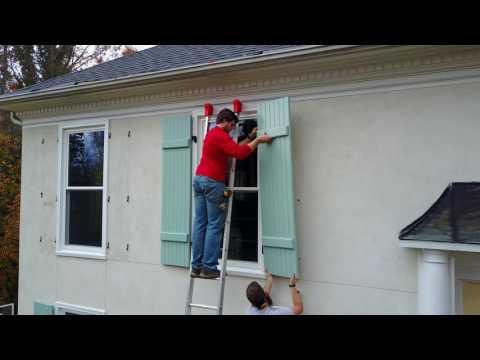 Board and Batten Shutter Install - Palmetto Window Fashions