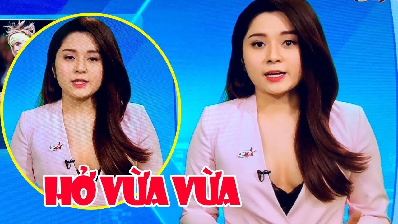 Review Fun   Trên tay MC Thể Thao ăn mặc sexy và hơi chuếnh trên sóng truyền hình siêu hài