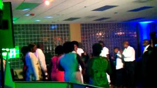 Soul train line dancing at American Legion