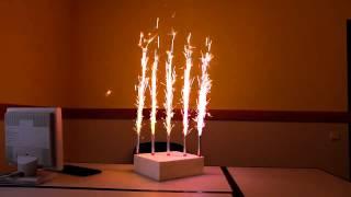как быстро поджечь тортовые свечи или фейерверки в торт - совет от skyfire.kiev.ua