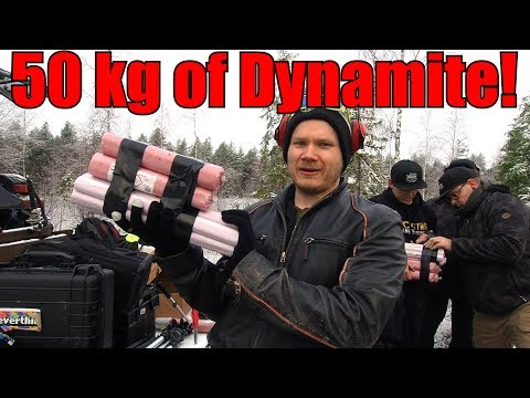 We Buried 50KG110LBS of Dynamite in Swamp! Huge Explosion and Crater!