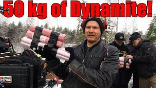 We Buried 50KG/110LBS of Dynamite in Swamp! Huge Explosion and Crater!