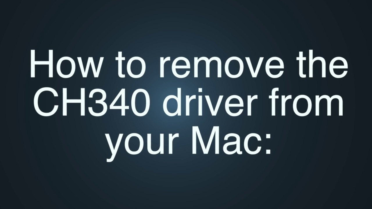 How to remove the CH340 Driver from your Mac (ARDUINO IDE)