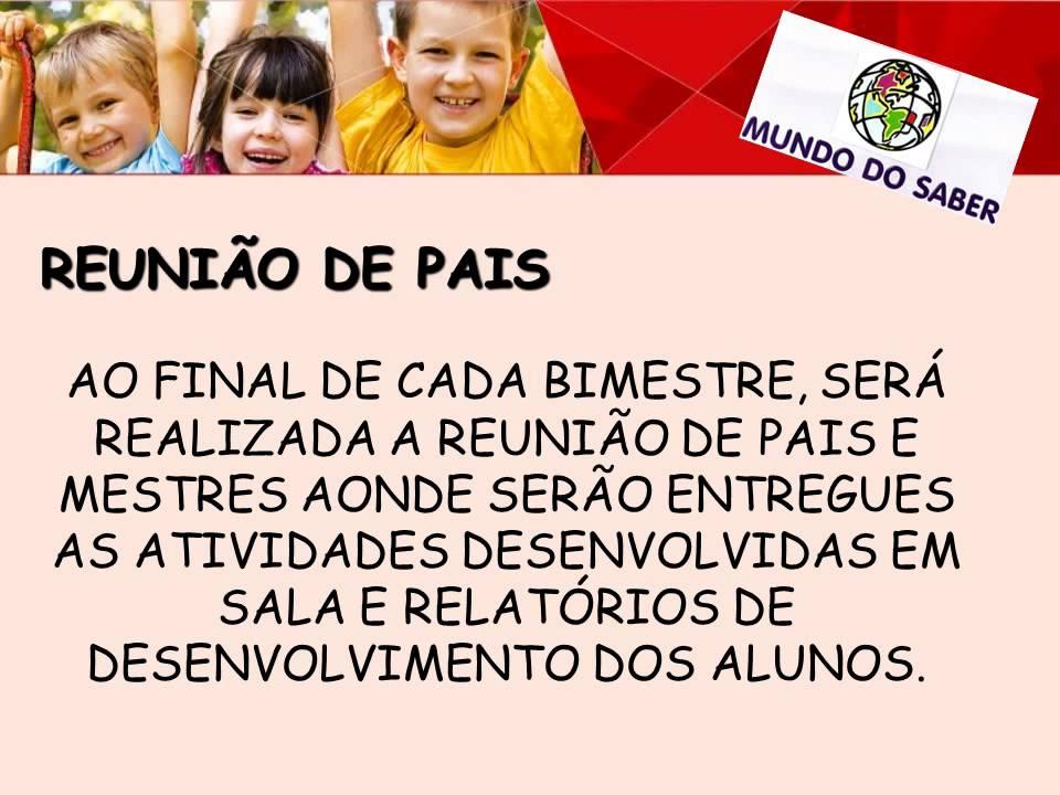 Conhecido REUNIÃO DE PAIS E MESTRES1 - YouTube AE94