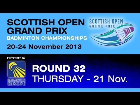 R32 - MS - Kasper Lehikoinen vs Dmytro Zavadsky - 2013 Scottish Open Grand Prix