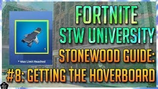HOW TO GET THE HOVERBOARD & LEGENDARY SURVIVORS! [FORTNITE STWU]