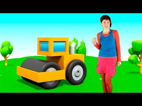 Видео для детей и 3D мультфильм Машины Загадки - асфальтовый каток