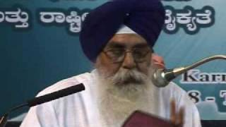 (1/2) Ahmadiyya: Guru Harjinder Singh Bhatia (Sikh) at Inter-Religious Peace Conference 2008