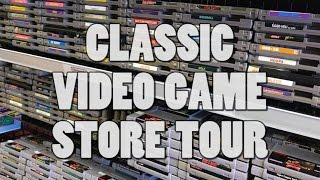Classic Video Game Store Tour - Nintendo, Sega, Atari!