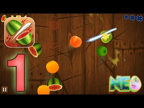 Fruit Ninja: Gameplay Walkthrough Part 1 - Slicing Fruit! (iOS, Android)