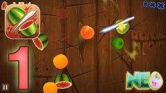 Fruit Ninja: Gameplay Walkthrough Part 1 - Slicing Fruit! (iOS, Android)