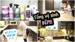 Tổng Vệ Sinh Bếp ♥ CLEANING MOTIVATION !!!CLEAN WITH ME   mattalehang