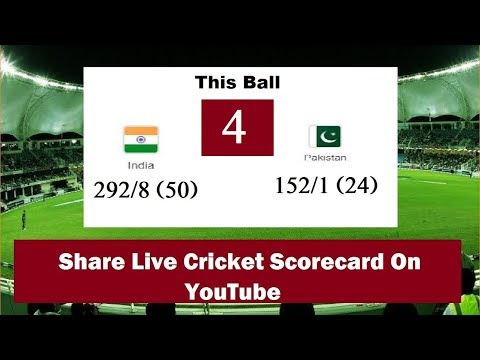 How To Share Live Cricket Scorecard On YouTube - [Tutorial Video]