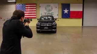 Mercedes class GL armor vs AK 47 kalashnikov tommy submachine gun