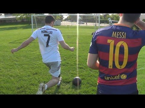 Cristiano Ronaldo vs. Messi - Training   In Real Life!