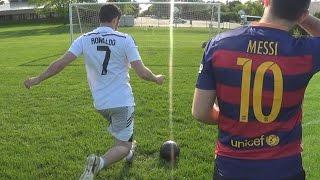 Cristiano ronaldo vs. messi - training | in real life!