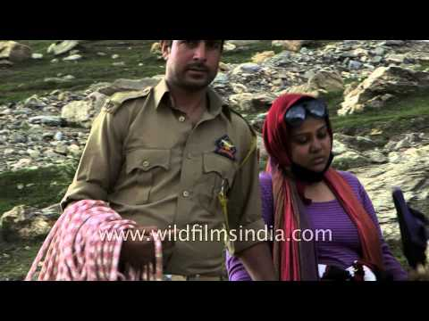 Temporary tented city for pilgrims at Zojibal, Kashmir : Amarnath Yatra