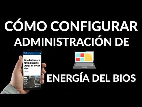 Cómo Configurar la Administración de Energía de tu PC desde la BIOS