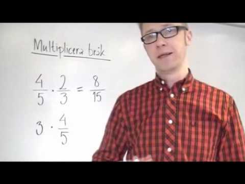 Multiplikation av brk