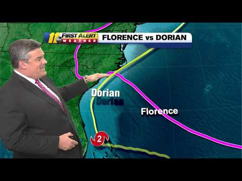How does Hurricane Dorian compare to Florence and Matthew?