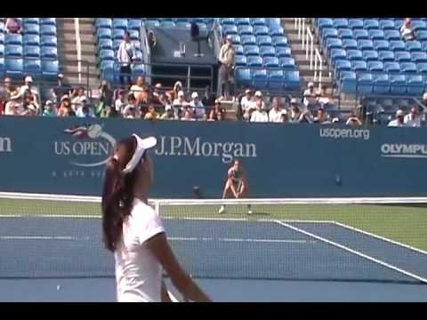 Sexy Ana Ivanovic 2011 US Open practice
