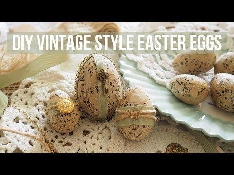 DIY Vintage Style Easter Eggs