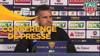 Conférence de presse RC Strasbourg Alsace - EA Guingamp (0-0 a. p. 4 tab à 1) Finale  / 2018-19