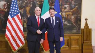 Vice President Pence Visits Italy