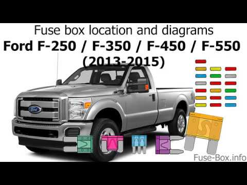 Fuse box location and diagrams Ford F-Series Super Duty (2013-2015