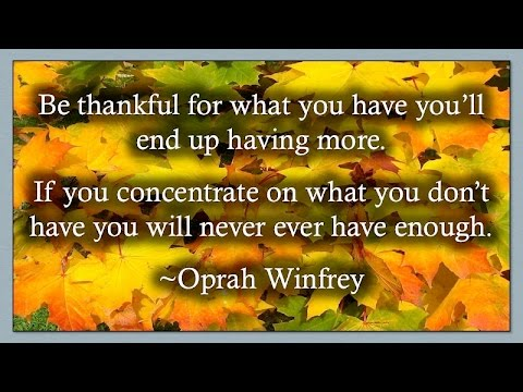 Happy Thanksgiving Quotes By Oprah Winfrey Tidbits Of Information
