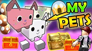 I HAVE MY OWN ROBLOX PETS !?!??! *CUTEEE & NEW* - Roblox Pet simulator [NEW]