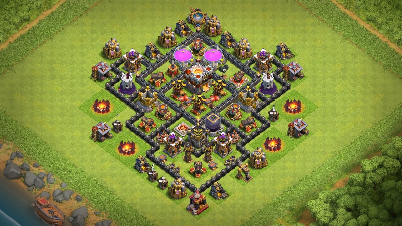 Undefeated Town Hall 7 Th7 Trophy War Base Best Th7 Defense 2017 Clash Of Clans Youtube