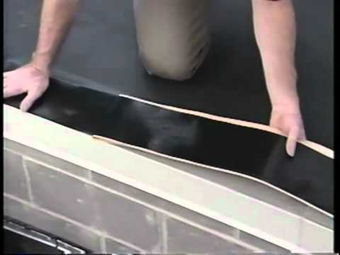 Rubber roofing - drip edge installation on flat roof