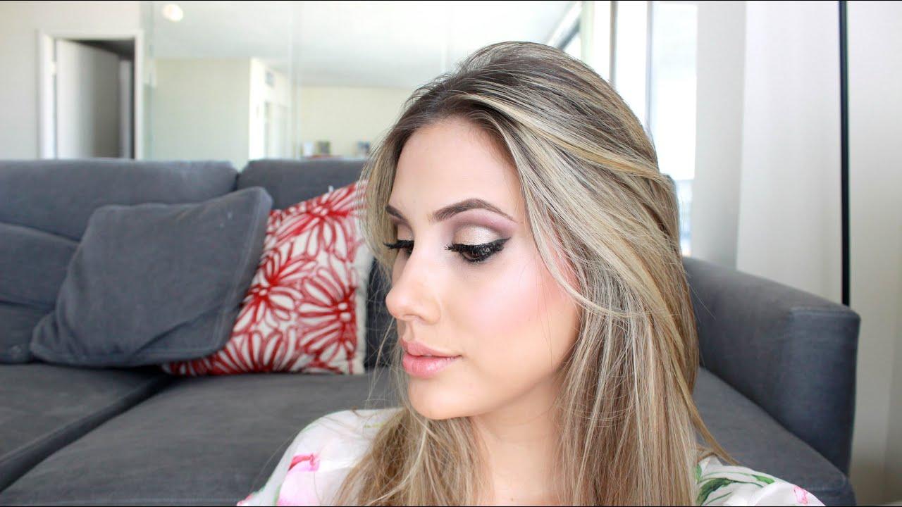 Maquillaje con cuenca marcada para fiestas - YouTube