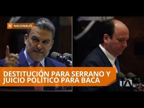 Baca Mancheno y Serrano comparecieron en la Asamblea Nacional - Teleamazonas