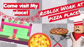 ROBLOX Work at pizza place! roleplay Aly gamer