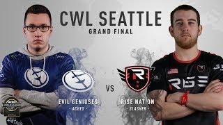 Rise Nation vs Evil Geniuses BO5#2 | CWL Seattle Open 2018 | Grand Finals