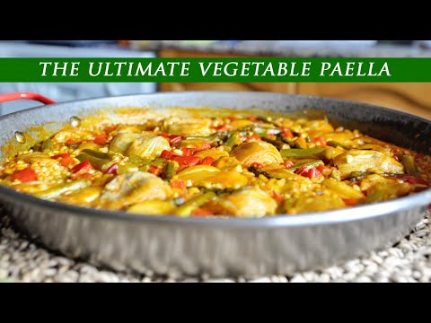 The ULTIMATE Spanish VEGETABLE PAELLA using Basic Pantry Staples