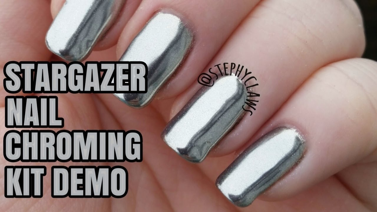 Stargazer Nail Chroming Kit Demo | Nail Tutorial | Stephyclaws