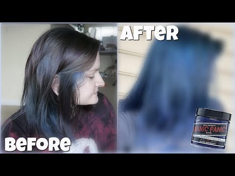"""Trying Manic Panic's """"after Midnight"""" Hair Dye 💙😱"""