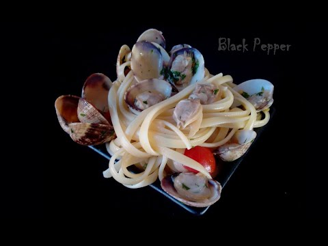 Italian Recipe – Pasta Linguine with Clams and Cherry Tomatoes | Black Pepper Chef