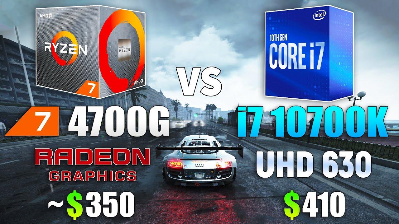 Ryzen 7 4700G vs i7 10700K - CPU and iGPU Test