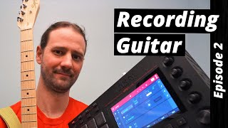 Akai MPC - Guitar Recorded Into Audio Tracks