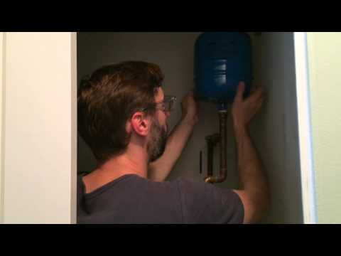 Replacing a water heater expansion tank