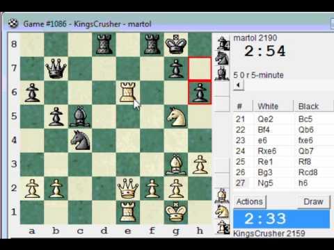 Sicilian: Alapin's variation (2.c3) : LIVE Blitz (Speed) Chess #579 vs martol (2190)